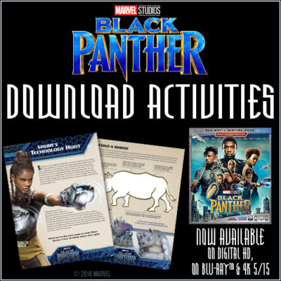 Free Printable Black Panther Activities