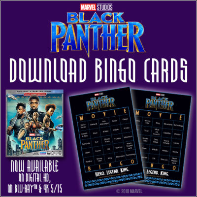 Black Panther Bingo Set