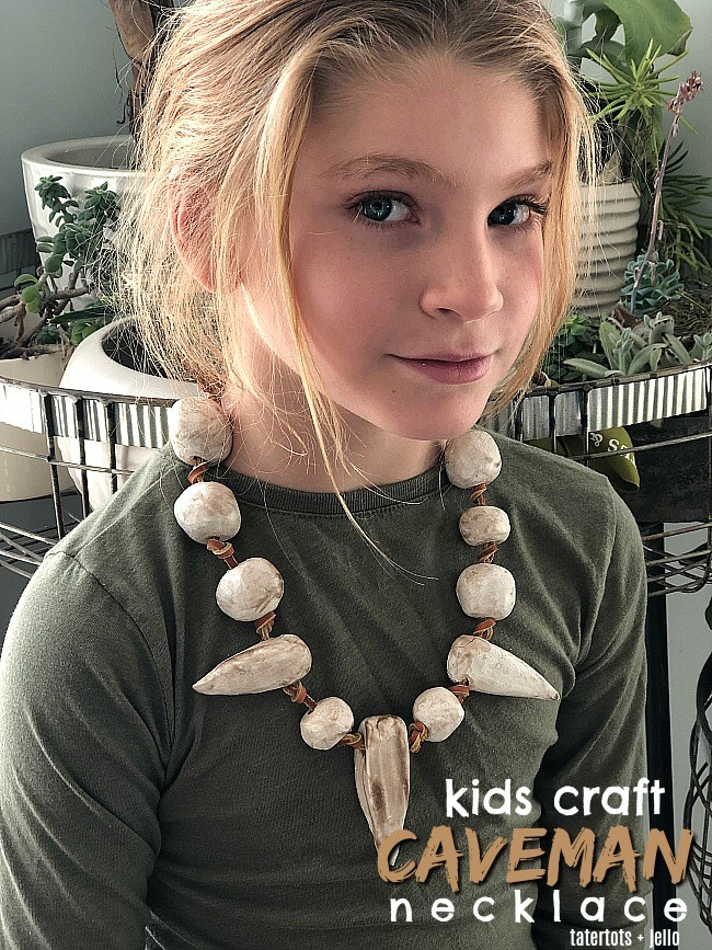 Clay Caveman Necklace