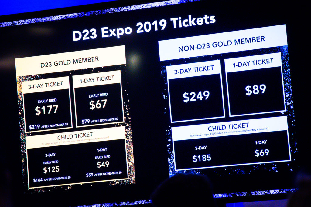 D23 Expo 2019 Tickets Prices and Announcements
