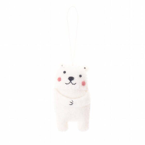 Arctic Polar Bear Animal Ornament
