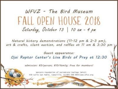 Western Foundation of Vertebrate Zoology Fall Open House