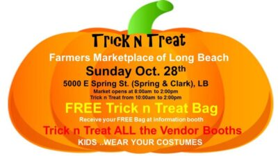 Trick n Treat at the Farmers Marketplace of Long Beach.