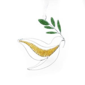 Beaded Dove Ornament