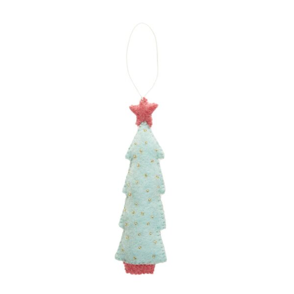 Felt Christmas Tree Ornament - Mint