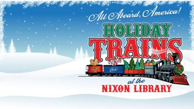 Holiday Trains at the Nixon Library