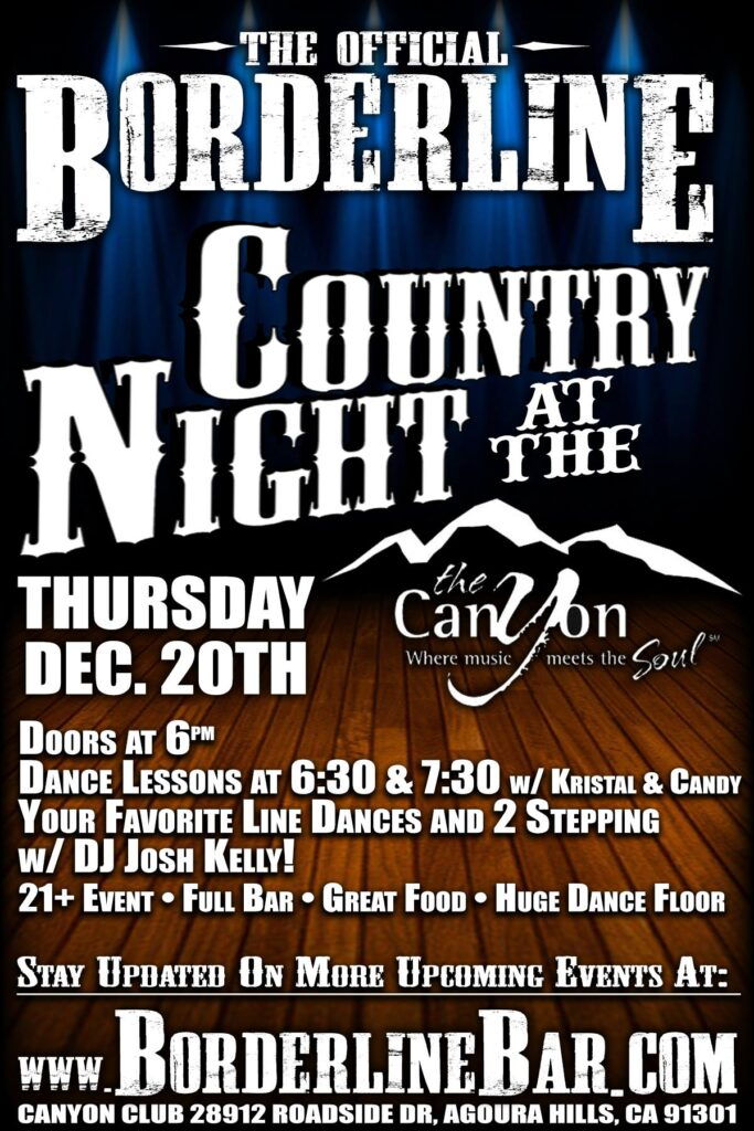 Borderline Country Night at The Canyon Club