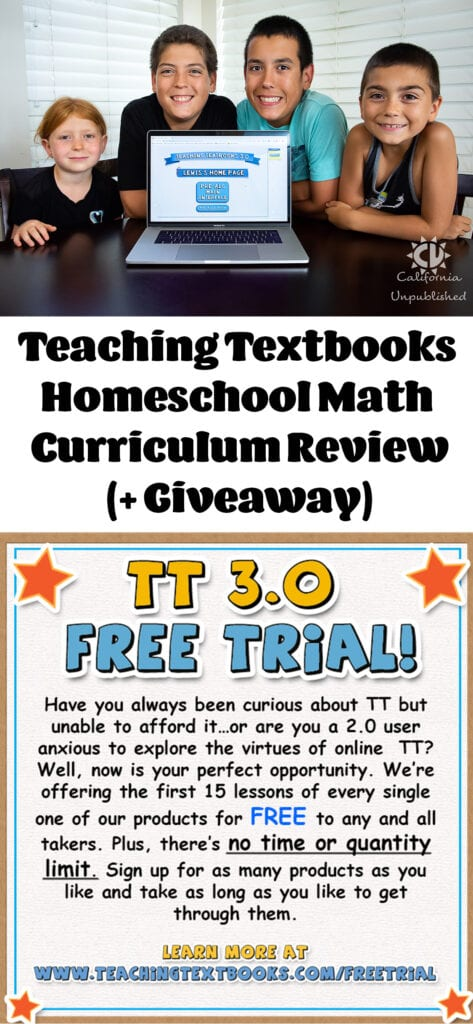 Teaching Textbooks Homeschool Math Curriculum (+ Giveaway)