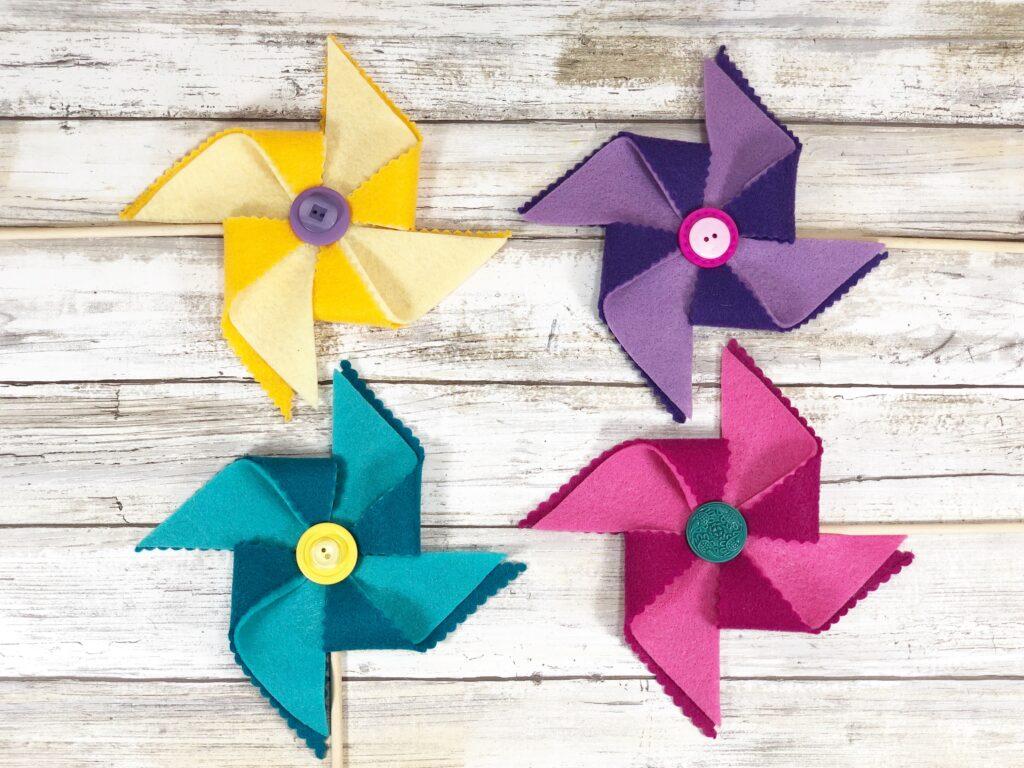 Easy! DIY Decorative Felt Pinwheels